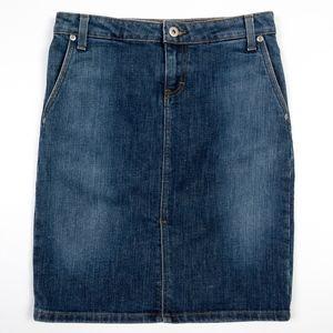 J CREW Denim Jeans SKIRT front slit - 20% spandex
